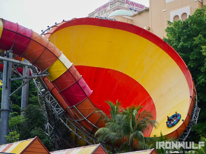 The Vuvuzela, the top water park attraction at Sunway Lagoon