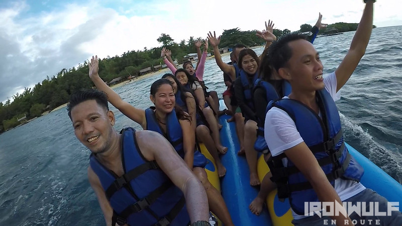 Banana boat ride from BIA