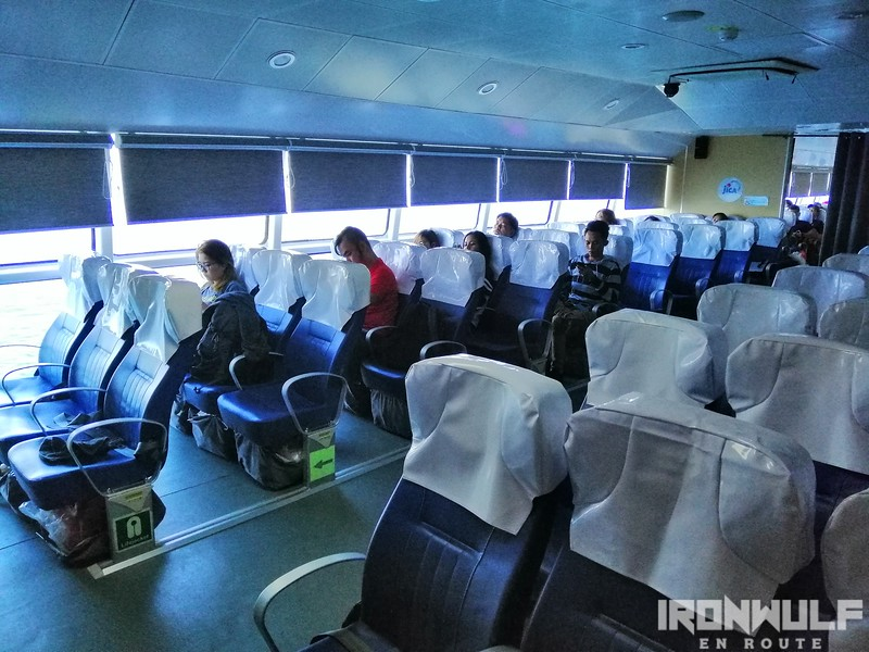 The business class section of FastCat Ferry