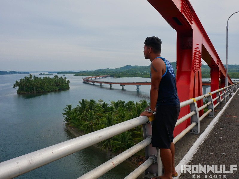 Enjoying the picturesque views from the bridge