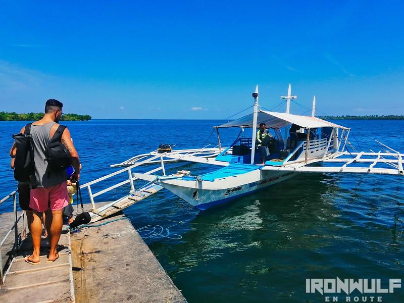 Boat to Kalanggaman Island