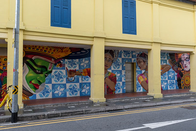 Street art in Little India, Singapore