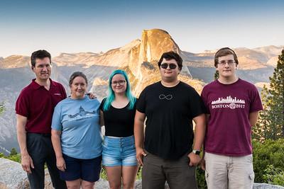 Family photo at Glacier Point, Yosemite National Park.