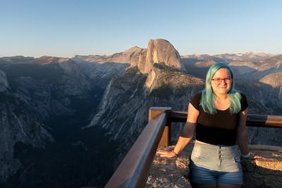 Mara overlook Halfdome and Yosemite Valley from Glacier Point.