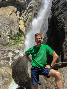David at Lower Yosemite Falls.