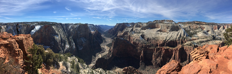 Panorama from Observation Point, Zion National Park.