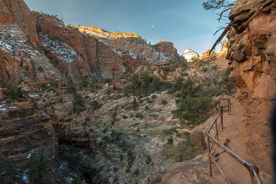 Canyon Overlook trail, soon after sunrise; Zion National Park.