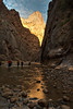 The Virgin River at its exit from the Narrows, in Zion National Park.