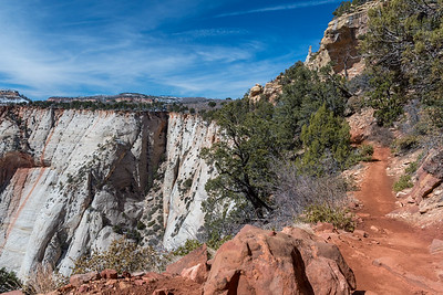 The final stretch of the trail to Observation Point, Zion National Park.
