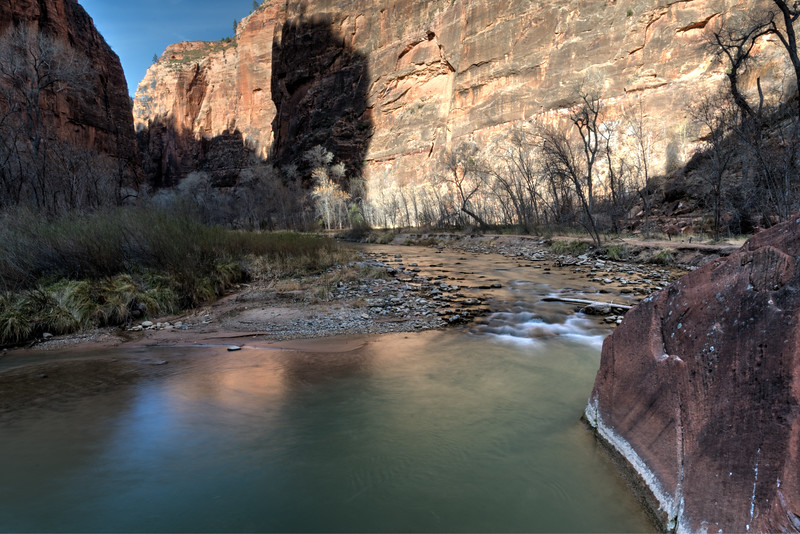 The Virgin River - Zion National Park.