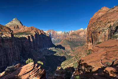 Canyon Overlook, soon after sunrise; Zion National Park.