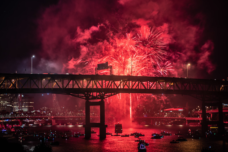 Independence Day Fireworks in Portland, 2019