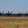 US Navy Blue Angels, after the show.