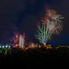 Edinburgh Tattoo - Fireworks - Edinburgh Castle - From Princess Street (August 2019)