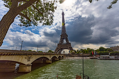 Eiffel Tower and the Seine River in Paris France