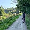 """One of several idyllic riverside """"tow paths""""."""