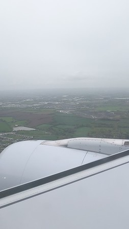 Beautiful, if misty, descent into Dublin