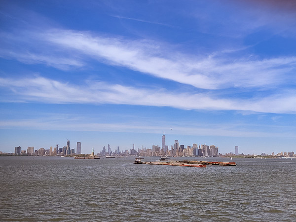 Left shore that afternoon.  The NY skyline is so pretty.