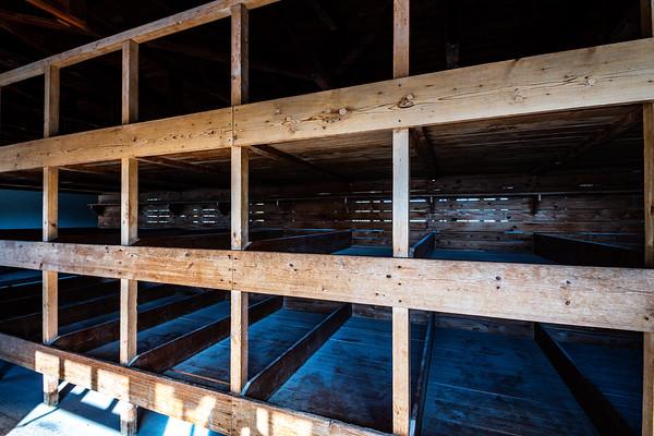 Dachau - the prisoner's bunks
