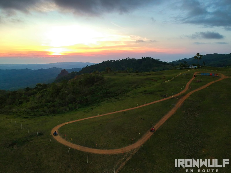 ATV track at sunset