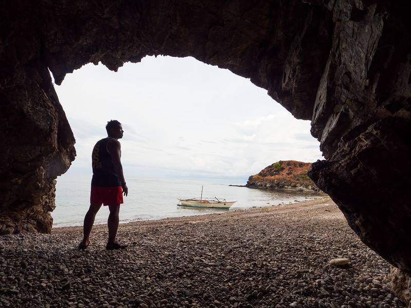 At the mouth of Gui-ob cave