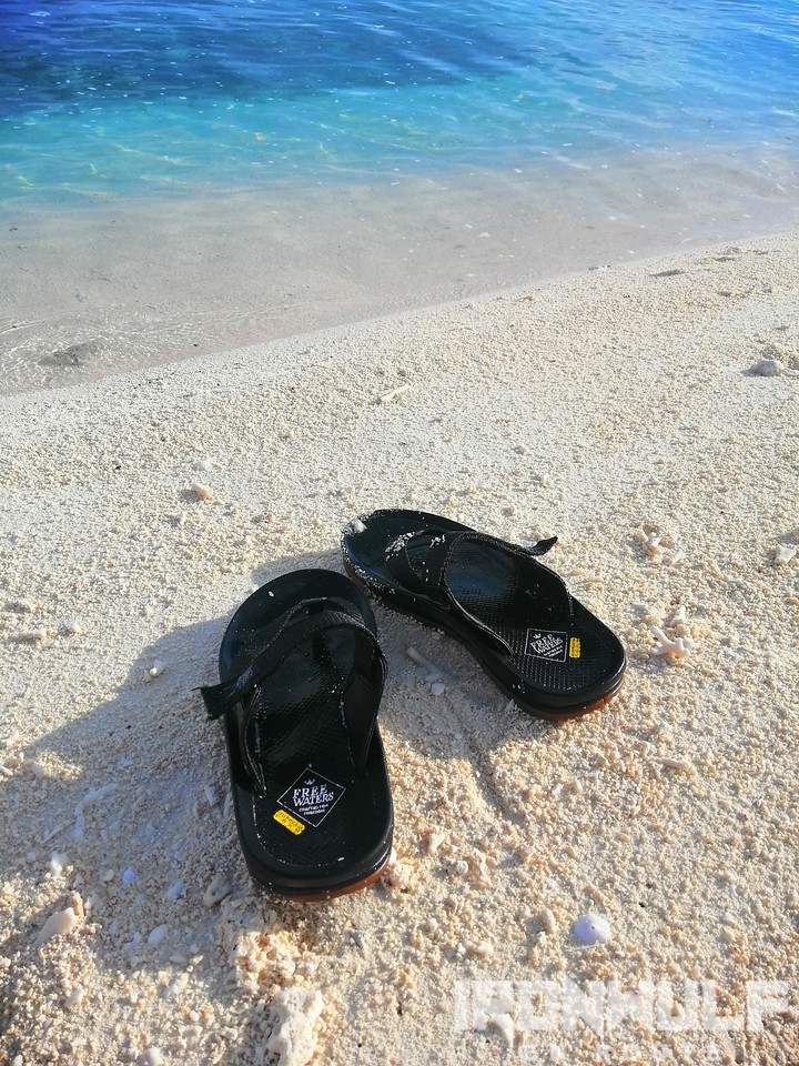 My Feewaters Trifecta slippers at Seco Island