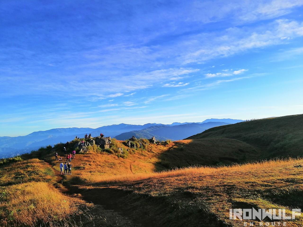 Summit view and a popular spot at Mt Yangbew