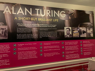 Info about Alan Turing, Bletchley Park.