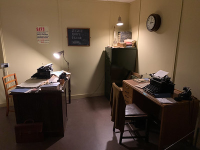 Alan Turing's office, Bletchley Park, England.