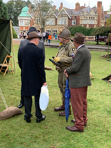 Visitors in 1940s clothing, Bletchley Park