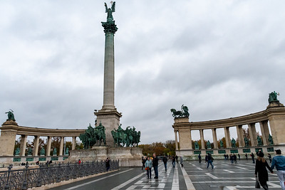 Heroes square in Budapest.