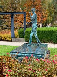 Statue of Steve Jobs in GraphiSoft Park, near AIT Budapest.