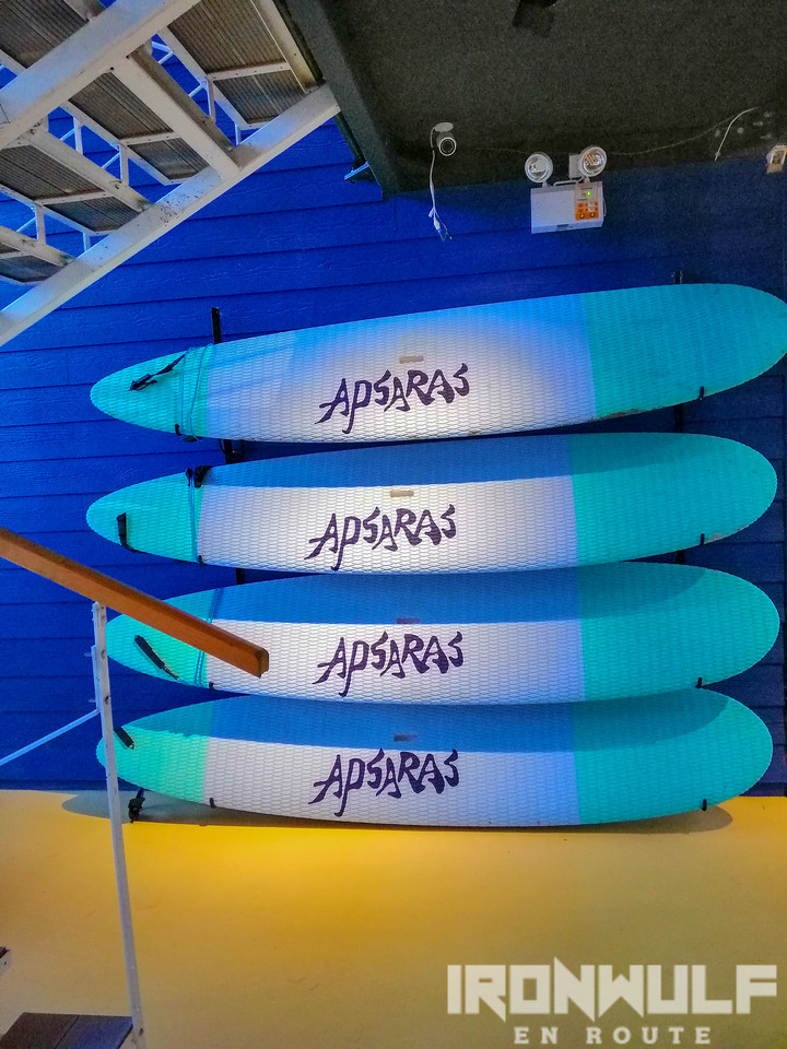 Surf boards for rent at Apsaras