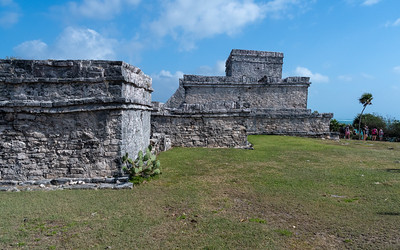 Tulum historic site; coast of the Yucatan peninsula, Mexico.