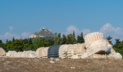 A fallen column at the Olympieion, in Athens.