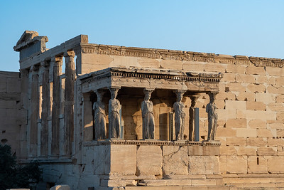 The Erechtheum in morning light, at the Acropolis, Athens.