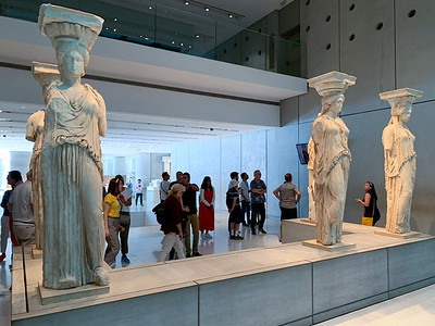 The Caryatids from the Erechtheion; Acropolis museum, Athens.