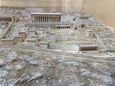 Model of ancient Delphi, Greece.