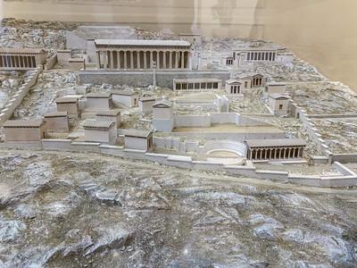 Model of ancient Delphi, Greece.