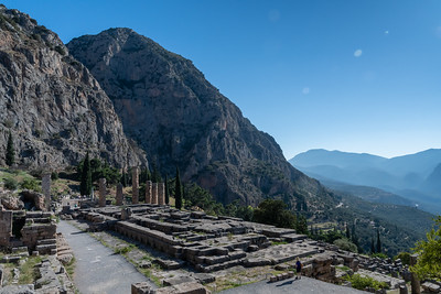 Pam explores ancient Delphi, Greece.