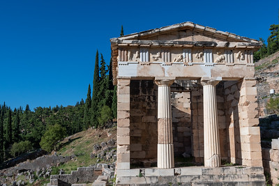 Treasury of the Athenians, ancient Delphi, Greece.
