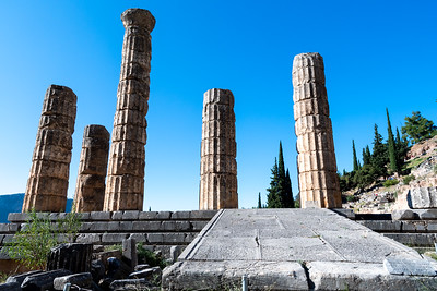 Temple of Apollo, ancient Delphi, Greece.