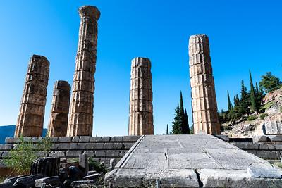 Temple of Apollo, ancient Delphi, Greece.