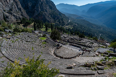 Theater at ancient Delphi, Greece.