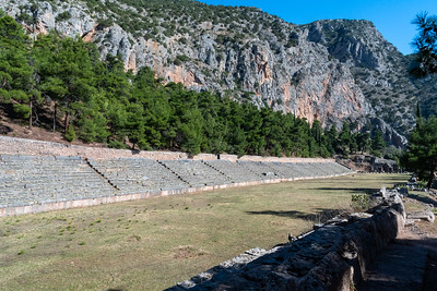 Stadium at ancient Delphi, Greece.