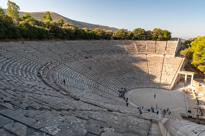 The ancient Greek theater at Epidaurus.