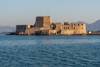 An island fortress in the Nafplion harbor.