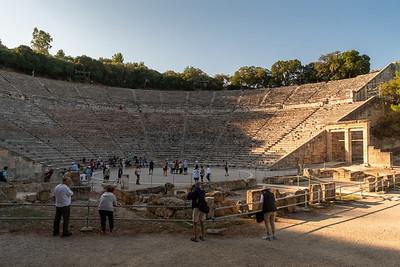 The ancient Greek theater at Epidaurus.