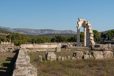 The Hestiatorion Complex, at Epidaurus, Greece.