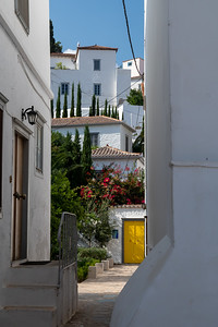 Interesting street in Hydra, Greece.